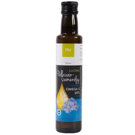 Elixi Luomu Pellavansiemenöljy 250 ml