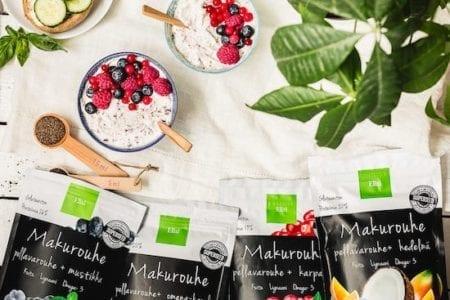 Elixi Makurouheet, kotimaista pellavaa ja raikkaita marjoja ja hedelmiä